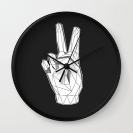 Geometric Peace sign Wall Clock