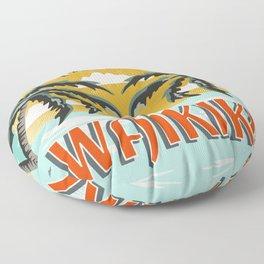 Aloha Waikiki Floor Pillow