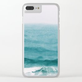 August Breakers Clear iPhone Case