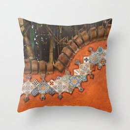 Mexican Tile Throw Pillow