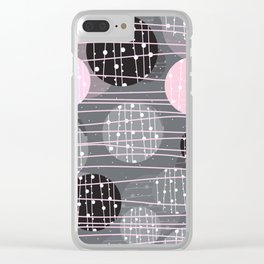 Circles, Dots, Nordic Pattern, Abstract Background Clear iPhone Case