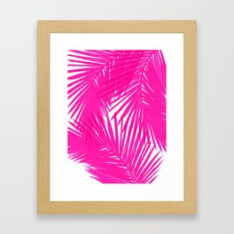 Palms Fuchsia Framed Art Print