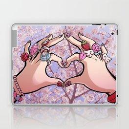 Heart Hands - Sakura Trees Laptop & iPad Skin