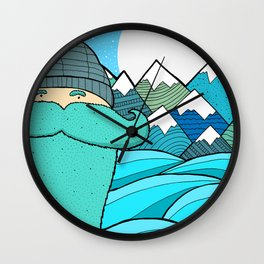 Blue Beard Wall Clock