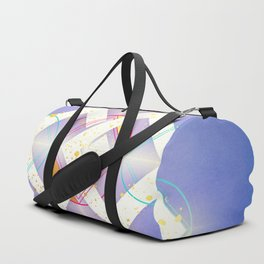 Linked Lilac Diamonds :: Floating Geometry Duffle Bag