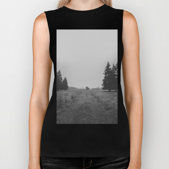 Siblings - black and white landscape photography Biker Tank