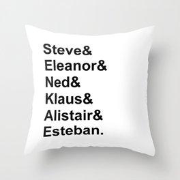Team Zissou Throw Pillow
