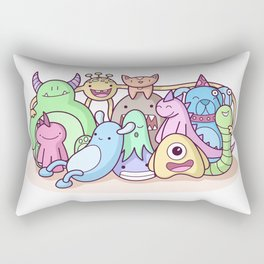 Monster Family Photo Rectangular Pillow