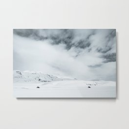 Snowmobiles on Svalbard Metal Print