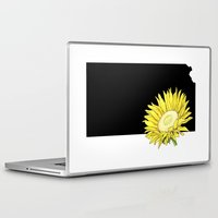 kansas Laptop & iPad Skins featuring Kansas Silhouette by Ursula Rodgers