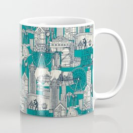 Seattle indigo teal Coffee Mug