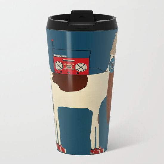 bootleg beagle  Metal Travel Mug