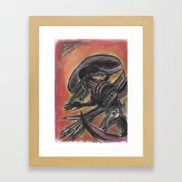 """""""Tribute to HR Giger"""" Framed Art Print"""