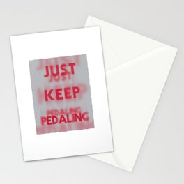 Just Keep Pedaling Stationery Cards