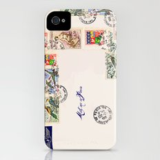 French Postage, meet me in Paris Slim Case iPhone (4, 4s)