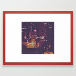 Chicago from the Wine Window Framed Art Print