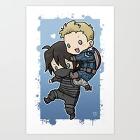 stucky Art Prints featuring Stucky On You by DeanDraws