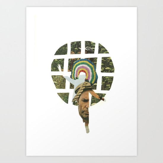 the lonely indian Art Print