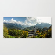 Gruyères Church Canvas Print