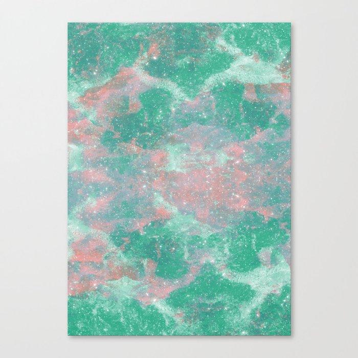 Sea Green Foam Canvas Print