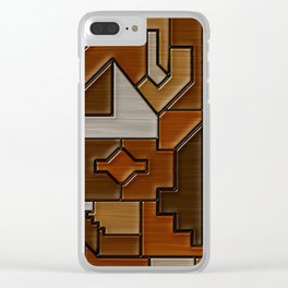 Woodwork Clear iPhone Case