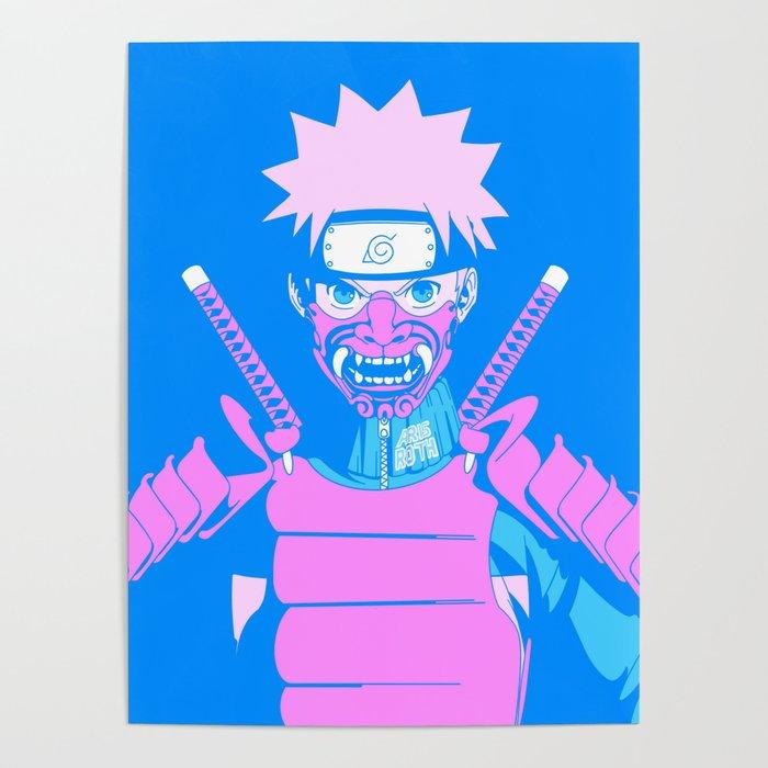 Lonely Samurai (Traditional Japanese Anime Interpretation) Poster