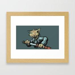 DEFENCE Framed Art Print