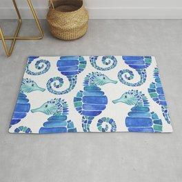 Seahorse - Blue  Rug