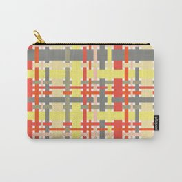 woven design orange yellow and gray Carry-All Pouch