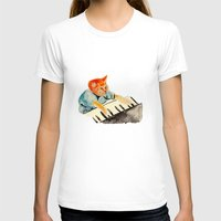 watercolour T-shirts featuring watercolour keyboard by withapencilinhand