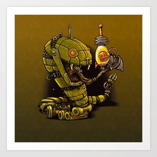 Robot Reptile Raygun Art Print
