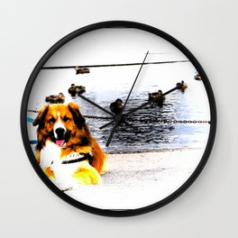 Chilling dog Wall Clock