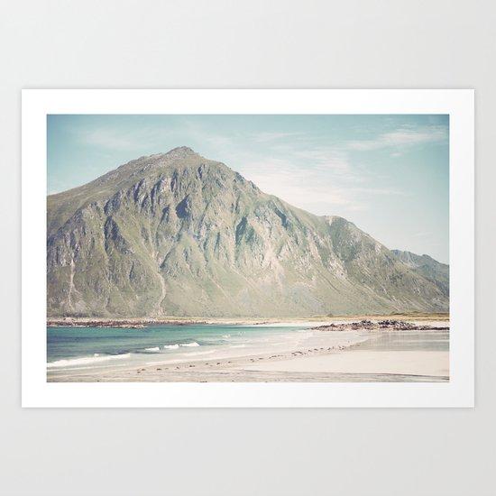 Gone to the Beach Art Print