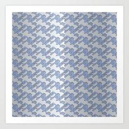 Traditional Japanese pattern YABURE-SAYAGATA Art Print