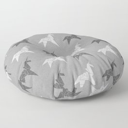 Origami Unicorn Grey Floor Pillow