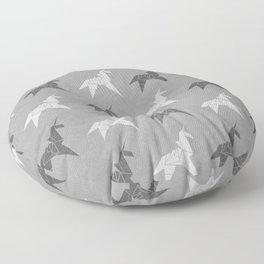 Origami Unicorn Grey Floor Pillow