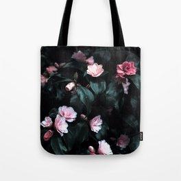 Dark Floral Tote Bag