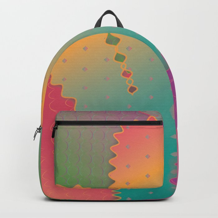 Colorful Glowing Cactus Backpack