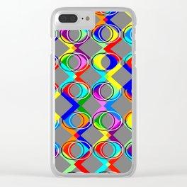 Rainbow Lattice and Circles Clear iPhone Case
