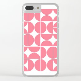Mid Century Modern Geometric 04 Pink Clear iPhone Case