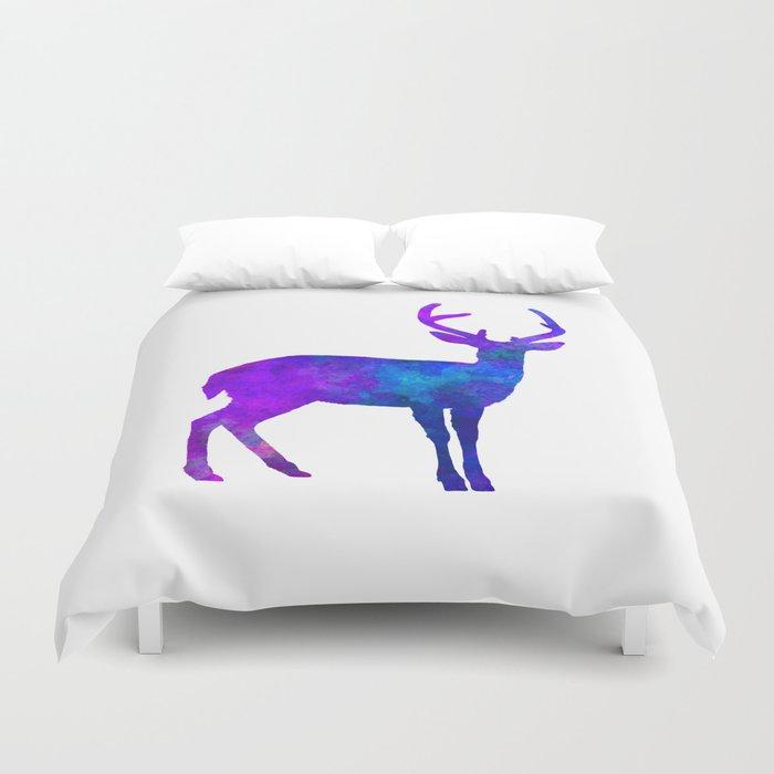 Male Deer 01 in watercolor Duvet Cover