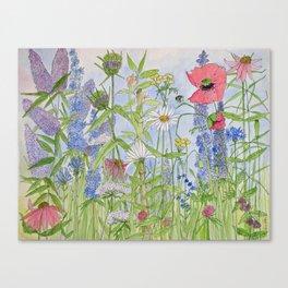 Flowers Alive Watercolor Canvas Print