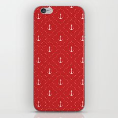 red anchor iPhone Skin