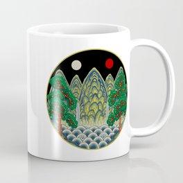 Sun, Moon and 5 peaks: King's painting Type B (Minhwa-Korean traditional/folk art) Coffee Mug
