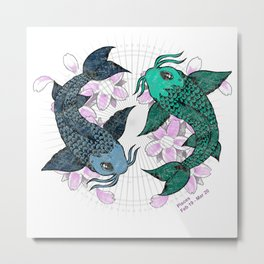 Koi fish Pisces Metal Print