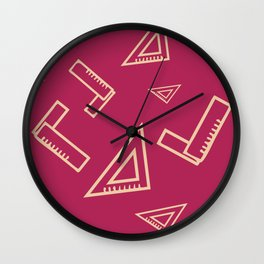 Abstract Carpenter Tool Pattern Wall Clock