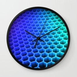 3D Colorful Honey Comb Hexagon Pattern Ultra HD Wall Clock