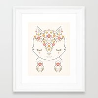meow Framed Art Prints featuring MEOW by Kelli Murray