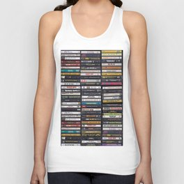 Old 80's & 90's Hip Hop Tapes Unisex Tank Top
