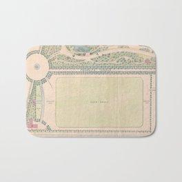 Vintage Map of Prospect Park (1868) Bath Mat